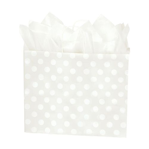 Polka Dot Pearl Paper Shopping Bags - detailed view 3