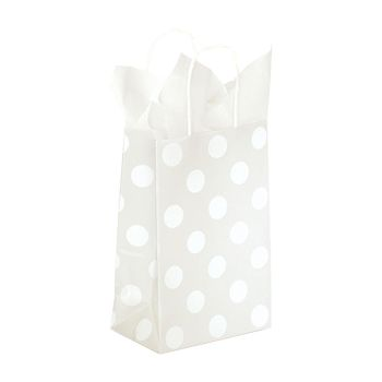 Polka Dot Pearl Paper Shopping Bags - thumbnail view 1