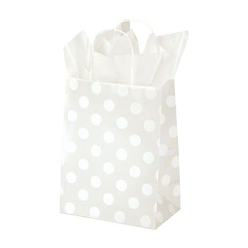 Polka Dot Pearl Paper Shopping Bags - thumbnail view 2