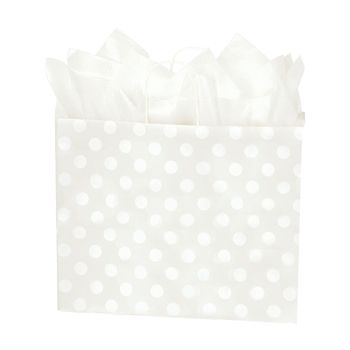 Polka Dot Pearl Paper Shopping Bags - thumbnail view 3