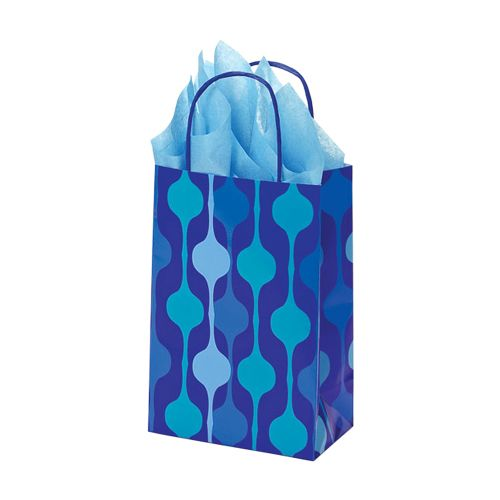 Snowflake Swirl/Waterfall Paper Shop Bag - detailed view 1