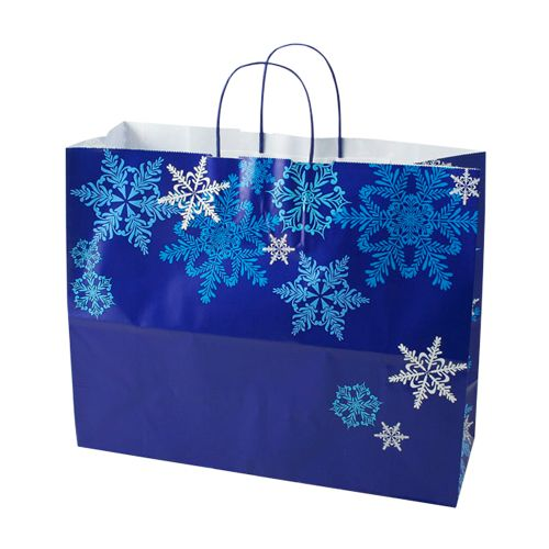 Snowflake Swirl/Waterfall Paper Shop Bag - detailed view 3