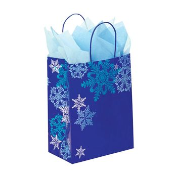 Snowflake Swirl/Waterfall Paper Shop Bag - thumbnail view 2