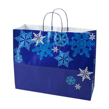 Snowflake Swirl/Waterfall Paper Shop Bag - thumbnail view 3