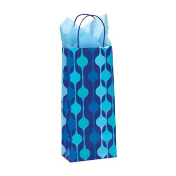 Snowflake Swirl/Waterfall Paper Shop Bag - thumbnail view 4