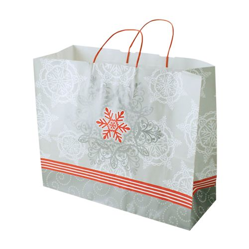 Christmas Lace Paper Shopping Bags - detailed view 3