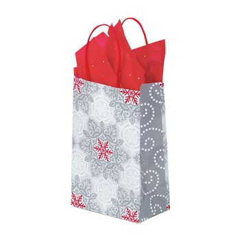 Christmas Lace Paper Shopping Bags - thumbnail view 1