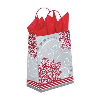 Christmas Lace Paper Shopping Bags - thumbnail view 2