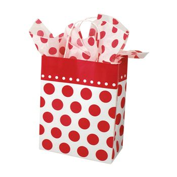 Cheery Dots Paper Shopping Bags - thumbnail view 1