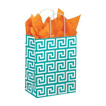 Recycled White Kraft Shopping Bags - thumbnail view 5