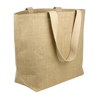 Jute Beach Bag W/Cotton Lining - thumbnail view 1