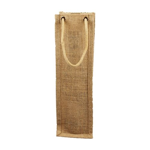 Jute Wine Bags W/Rope Handles - detailed view 1