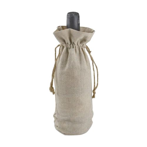 Linen Wine Bag - detailed view 1