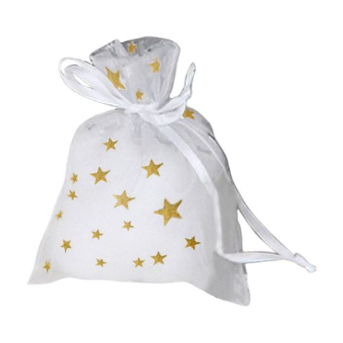 Metallic Star Print Organza Bag - detailed view 2