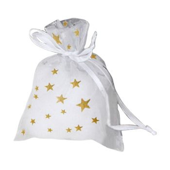 Metallic Star Print Organza Bag - thumbnail view 2