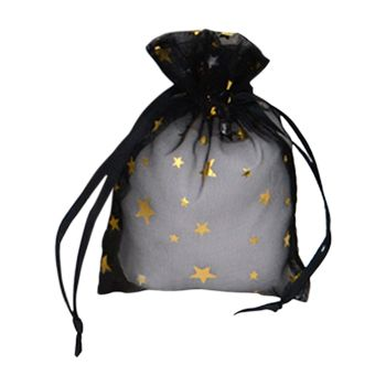 Metallic Star Print Organza Bag - thumbnail view 3