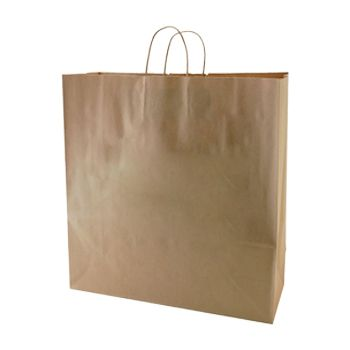 Natural Kraft Shopping Bags - thumbnail view 1