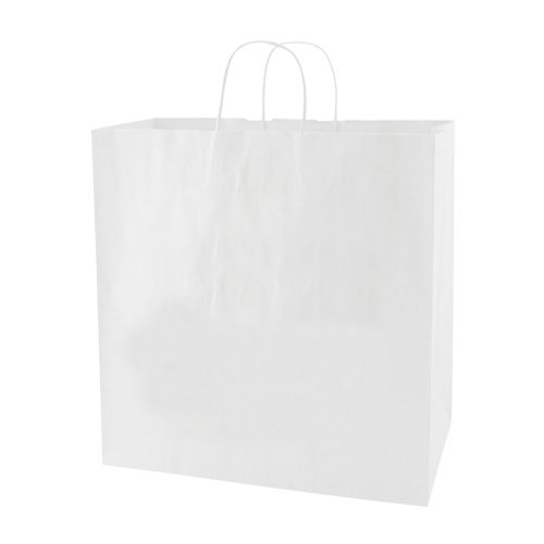 White Kraft Shopping Bags - detailed view 1