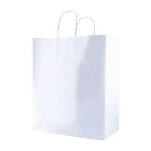 White Kraft Shopping Bags - detailed view 2