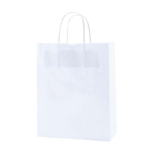 White Kraft Shopping Bags - detailed view 3