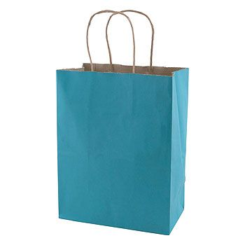 Solid Tinted Kraft Shopping Bags - thumbnail view 2