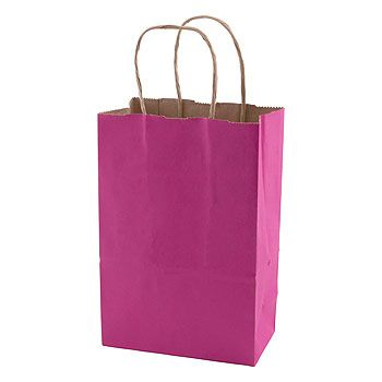 Solid Tinted Kraft Shopping Bags - thumbnail view 3