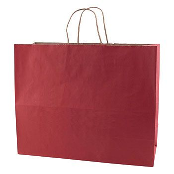 Solid Tinted Kraft Shopping Bags - thumbnail view 4