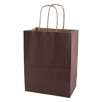Solid Tinted Kraft Shopping Bags - thumbnail view 5
