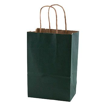 Solid Tinted Kraft Shopping Bags - thumbnail view 6