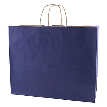 Solid Tinted Kraft Shopping Bags - thumbnail view 7