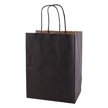Solid Tinted Kraft Shopping Bags - thumbnail view 8
