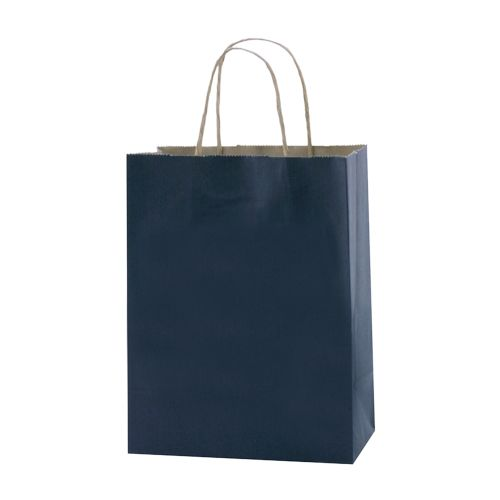 Stripped Tinted Kraft Shopping Bags - detailed view 8