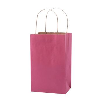 Stripped Tinted Kraft Shopping Bags - thumbnail view 1