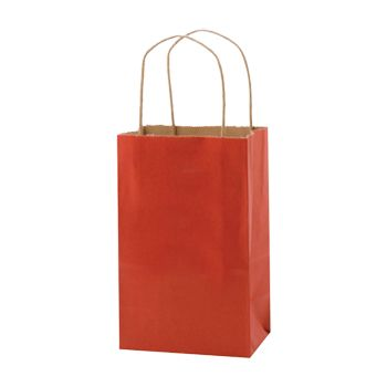 Stripped Tinted Kraft Shopping Bags - thumbnail view 3