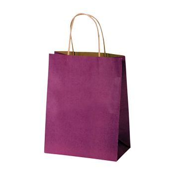 Stripped Tinted Kraft Shopping Bags - thumbnail view 7