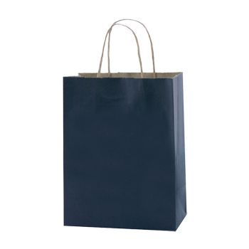 Stripped Tinted Kraft Shopping Bags - thumbnail view 8