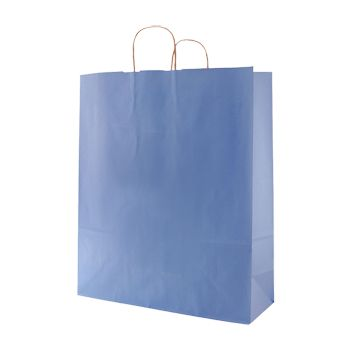 Stripped Tinted Kraft Shopping Bags - thumbnail view 13
