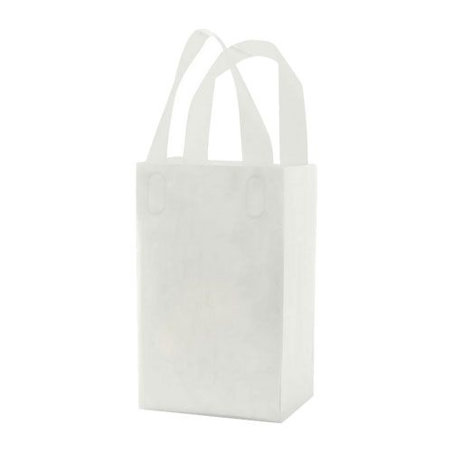 Clear Frosted Soft Loop Handle Bags - detailed view 1