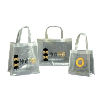 Imprinted Sparkling Woven Pp Bags - thumbnail view 1