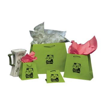 Imprinted Inverted Paper Trapezoid Bags - thumbnail view 4
