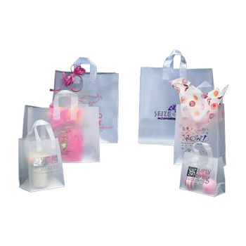 Imprinted Frosted Soft Loops Bags - thumbnail view 3