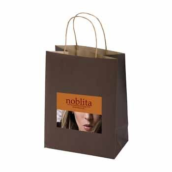 Imprinted Striped Tinted Shopping Bags - thumbnail view 5
