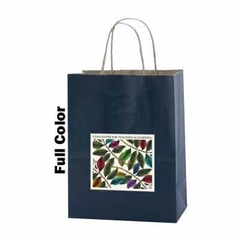 Imprinted Striped Tinted Shopping Bags - thumbnail view 8