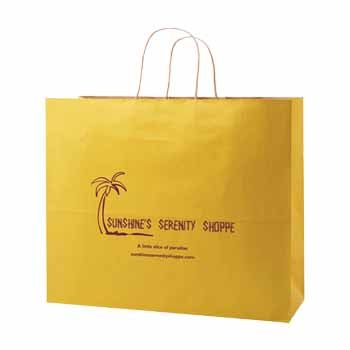 Imprinted Striped Tinted Shopping Bags - thumbnail view 9