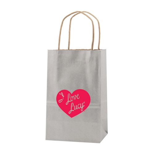 Imprinted Metal Kraft Shopping Bags - detailed view 1