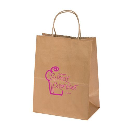 Imprinted Metal Kraft Shopping Bags - detailed view 4