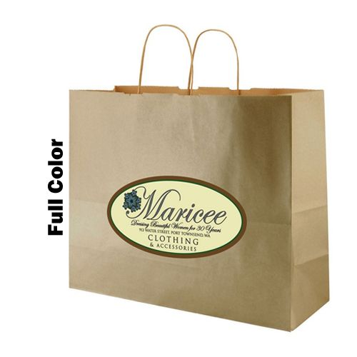 Imprinted Metal Kraft Shopping Bags - detailed view 5