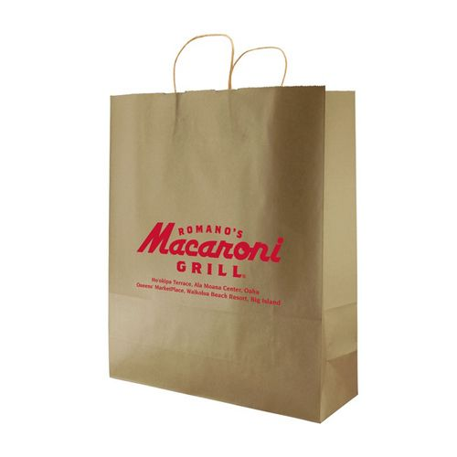 Imprinted Metal Kraft Shopping Bags - detailed view 6