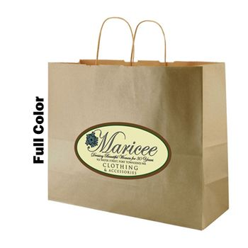 Imprinted Metal Kraft Shopping Bags - thumbnail view 5