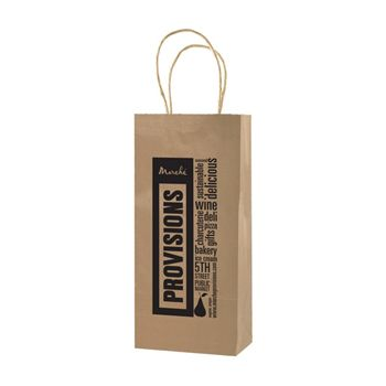 Imprinted Natural Kraft Shopping Bags - thumbnail view 1